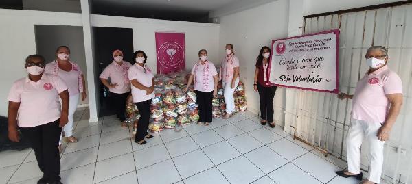 Liga Feminina de Paraíso publica nota de agradecimento a deputado por doação de cestas básicas