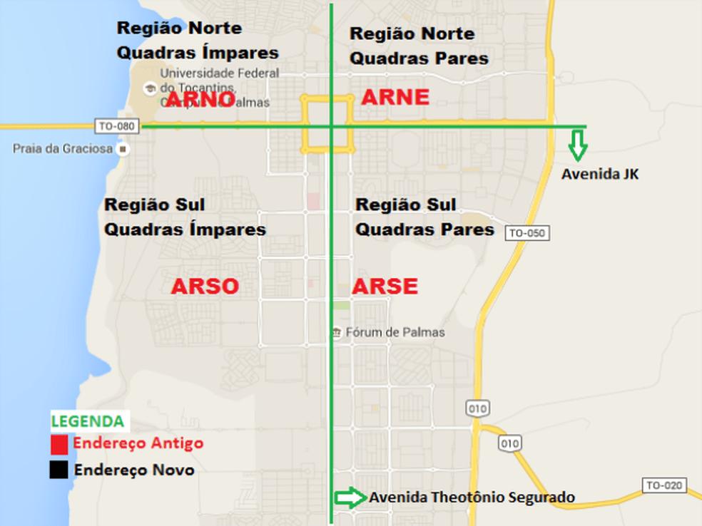 Moradores de Palmas devem usar novo endereçamento para enviar e receber encomendas