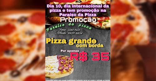 Paraíso da Pizza comemora o Dia Internacional da Pizza com promoção imperdível nesta sexta-feira