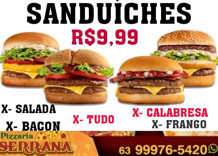 Pizzaria Serrana anuncia super novidade em Paraíso: Sanduíches por apenas R$ 9,99