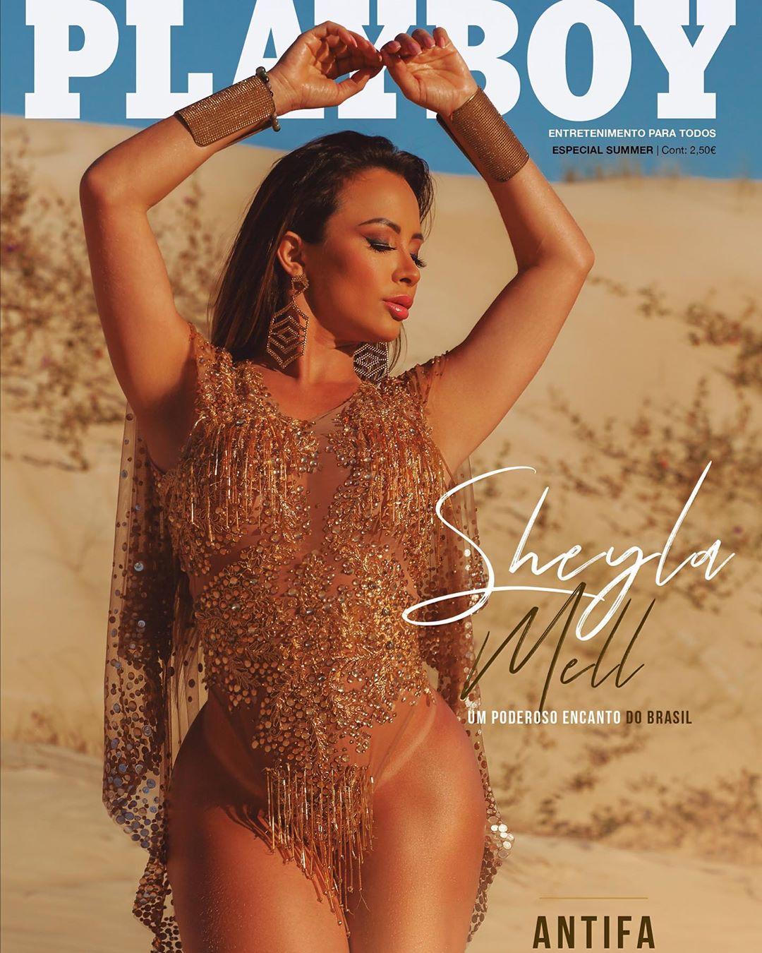 Capa da Playboy Portugal de julho, Sheyla Mell bate recorde de ensaio nu