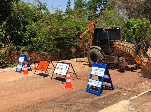 BRK Ambiental segue cronograma de obras no Parque Primavera em Gurupi