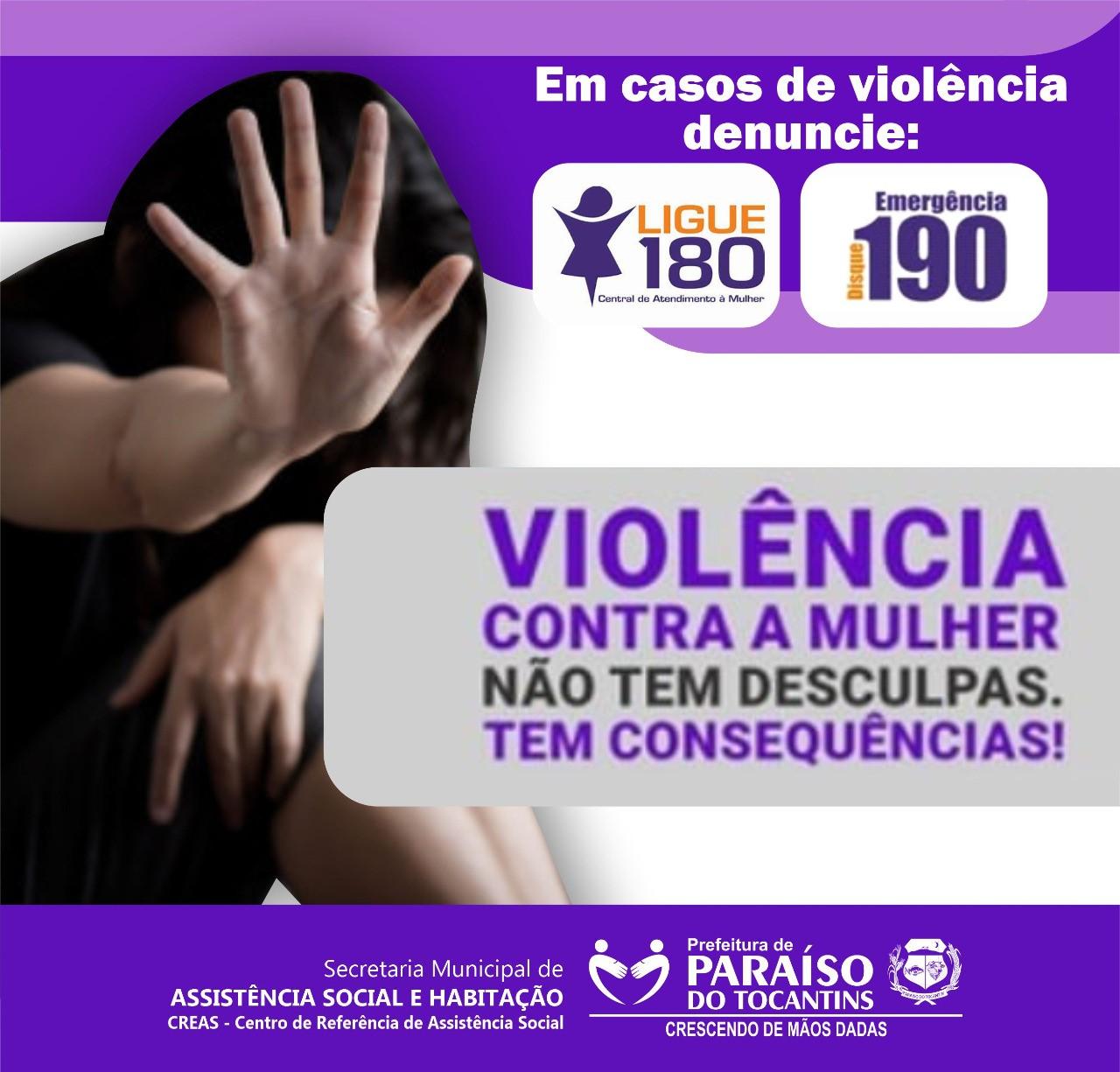 CREAS de Paraíso em alerta no combate à violência contra a mulher