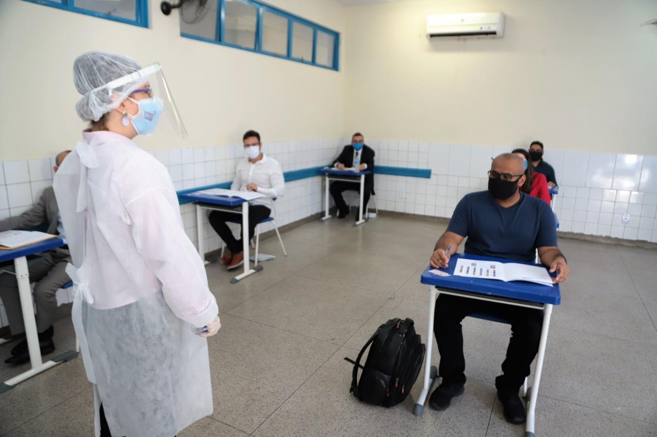 Candidatos da Guarda Municipal e da Procuradoria passam por avaliação psicológica, em Araguaína