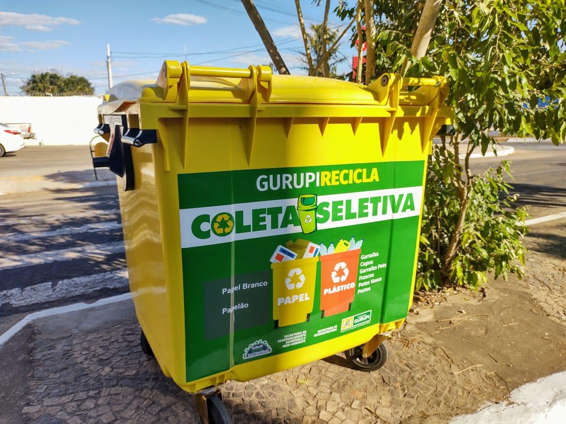 Prefeitura instala contêineres específicos para coleta seletiva em pontos estratégicos de Gurupi