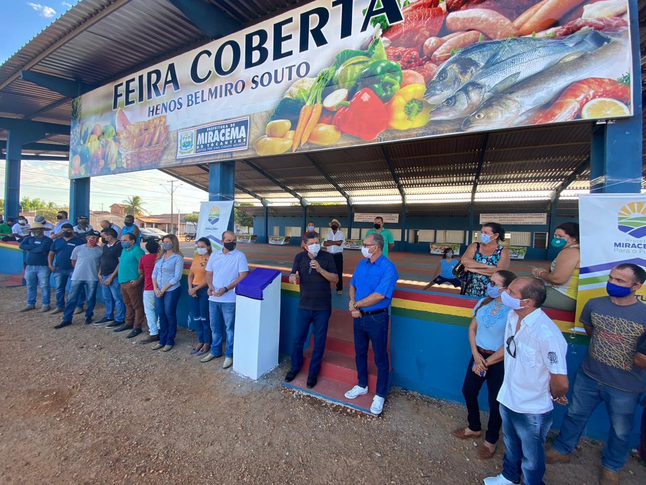 Prefeito de Miracema entrega reforma da Feira Coberta da cidade alta, Henos Belmiro Souto