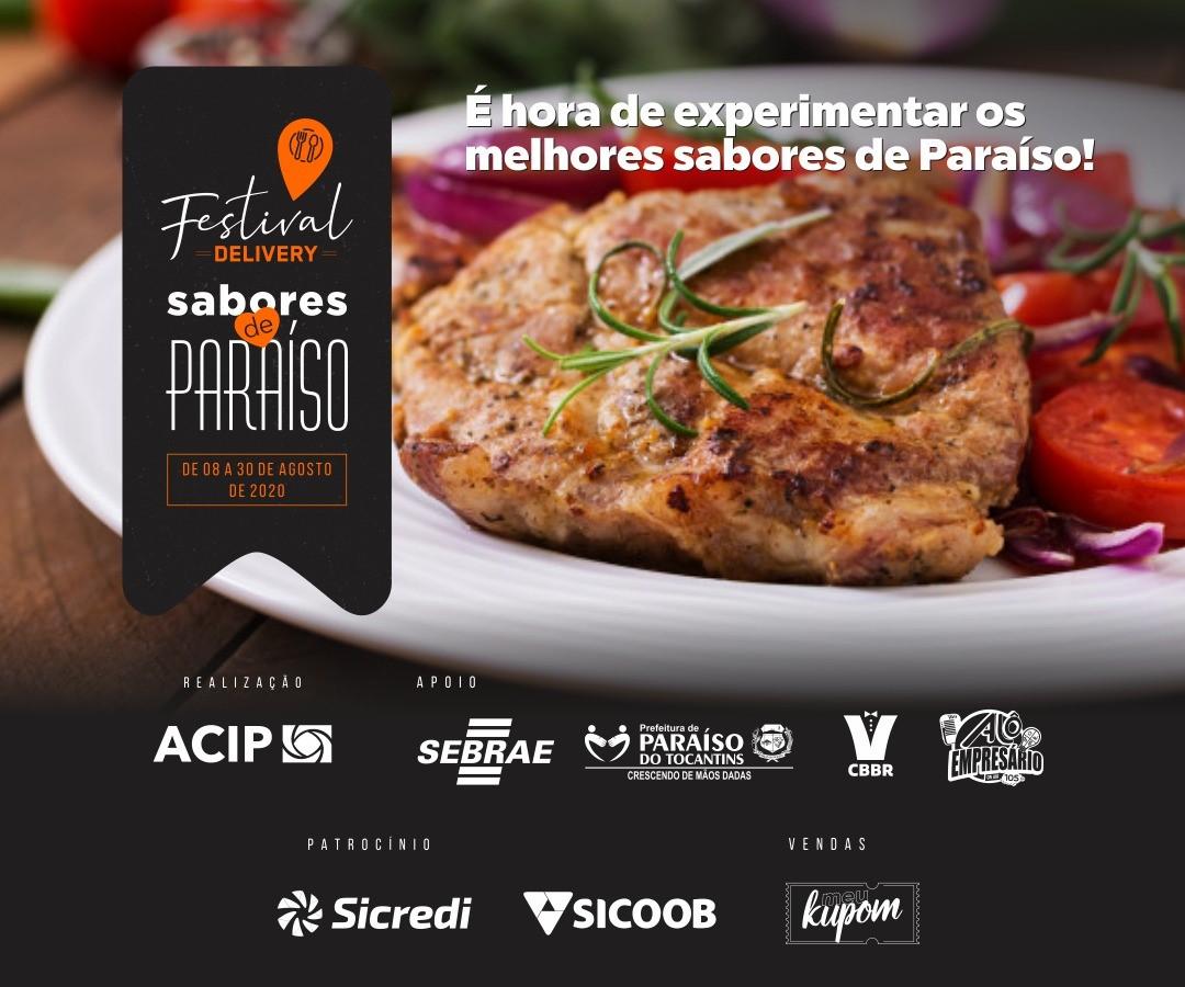 Festival Gastronômico Sabores de Paraíso acontece no mês de agosto em Paraíso com entregas delivery