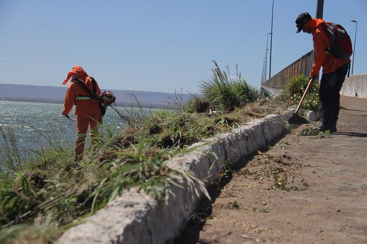 Governo do Tocantins realiza serviços de manutenção na Ponte da Amizade e da Integração, em Palmas