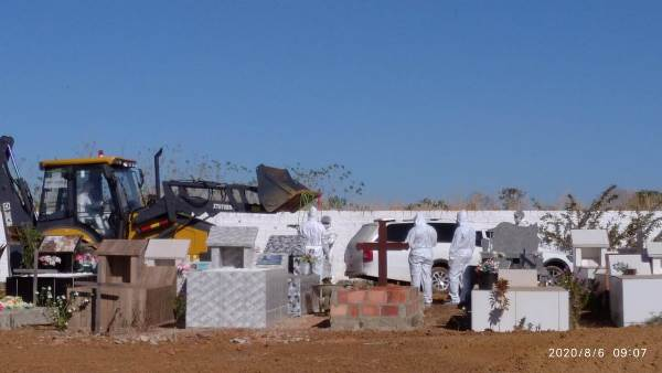 Primeira vítima de Covid-19 de Chapada de Areia é sepultada
