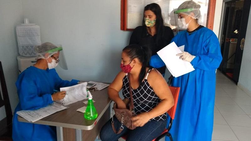 Em ação para detecção da covid-19, Secretaria de Saúde de Barrolândia realiza testes rápidos