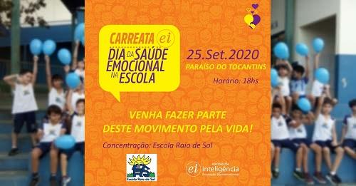 Escola Raio de Sol promove carreata em alusão à Saúde Emocional