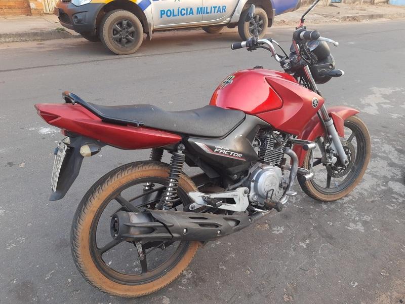 PM homem por tentativa de roubo e recupera moto em Araguaína