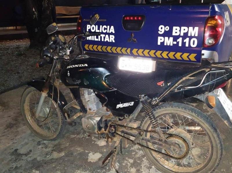 Motocicleta é recuperada pela PM durante abordagem em Esperantina