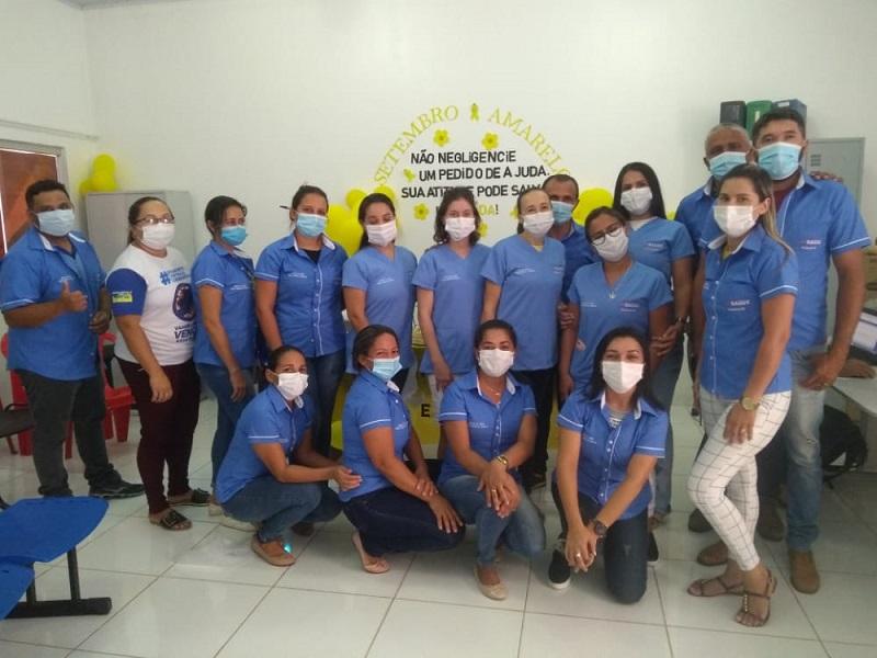 Servidores da Saúde de Goianorte recebem novos uniformes