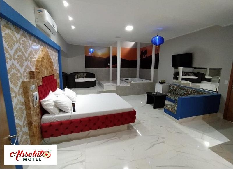 Absoluto Motel apresenta conforto e requinte da Suíte Dubai, em Paraíso
