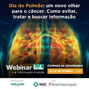 Webinar Dia do Pulmão discute impacto do novo coronavírus na saúde pulmonar