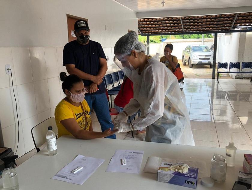 Covid-19: Prefeitura de Cristalândia segue com ação de testagem rápida de toda a população
