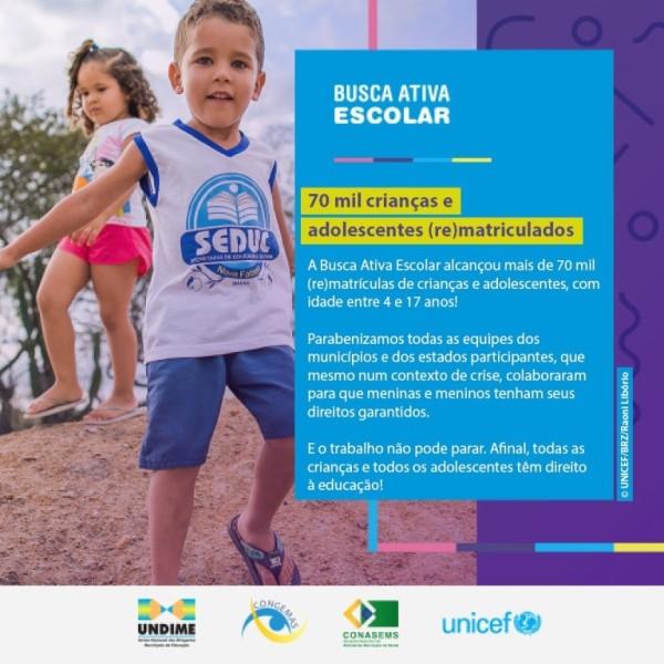 Educação de Gurupi combate evasão escolar por meio de campanha Busca Ativa, do UNICEF