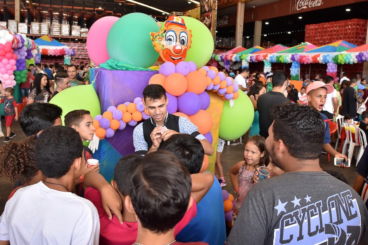 Evento do dia das crianças realizado em 2019