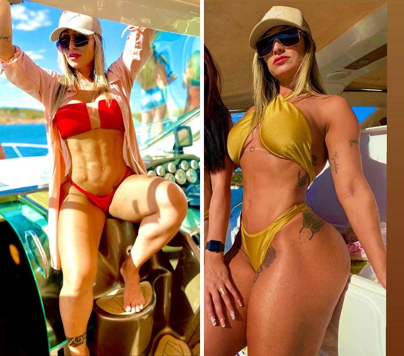 Musa Fitness Kelly Holliver bomba nas redes sociais com corpo escultural