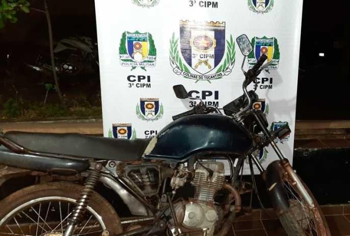 Polícia Militar prende homem conduzindo motocicleta com restrição de furto/roubo em Colinas