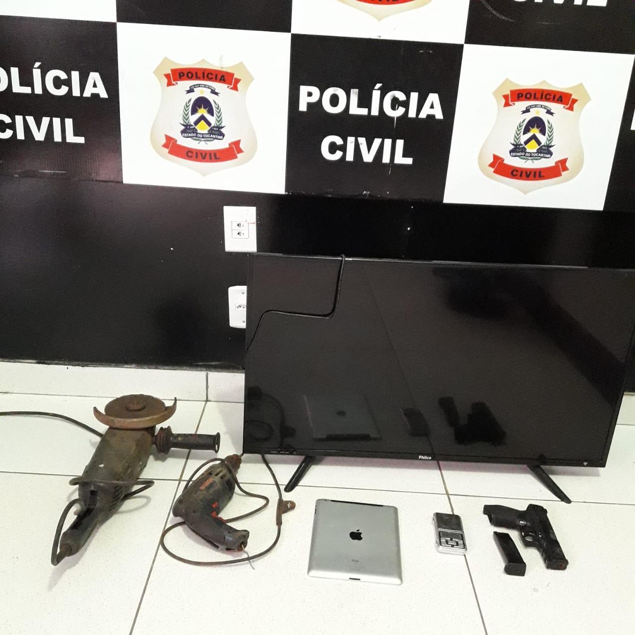 Polícia Civil recupera objetos furtados e prende mulher por receptação, em Porto Nacional