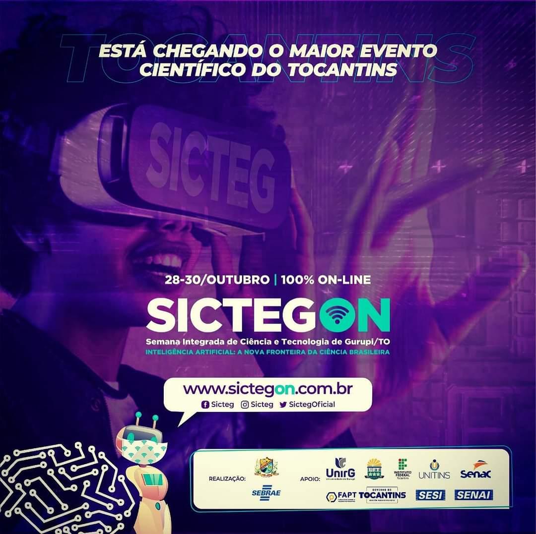 SICTEG ON: Maior evento de inovação científica do Tocantins será realizado em Gurupi