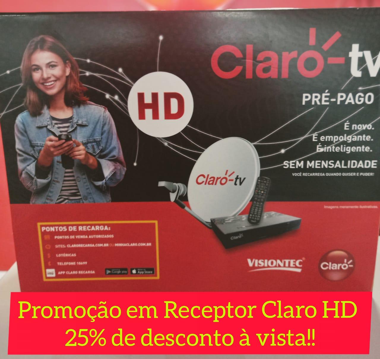 TV pré-pago: Via Dutra oferece 25% de desconto nos receptores Claro em Paraíso