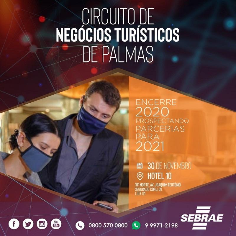 Sebrae Tocantins promove Circuito de Negócios Turísticos em Palmas; veja programação