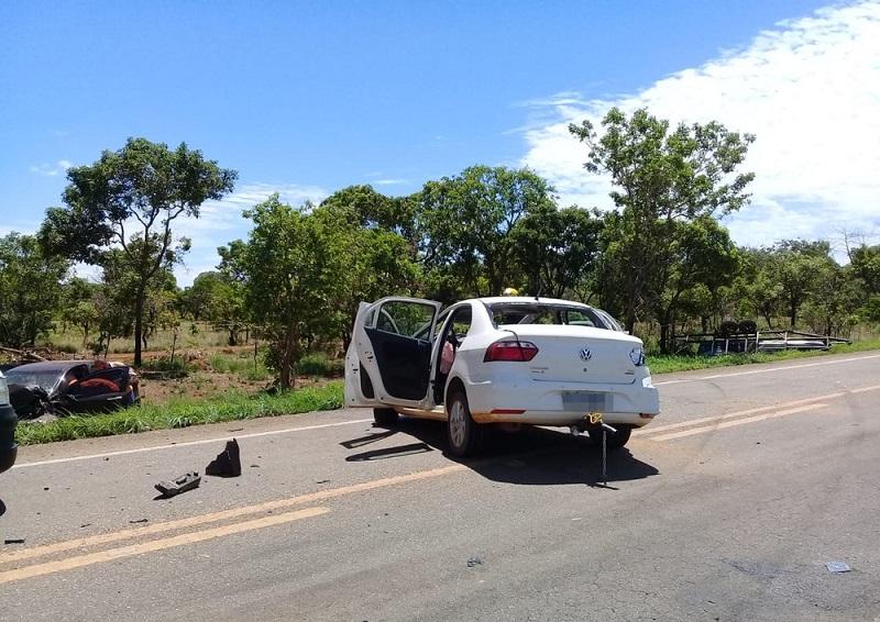 Idoso fica ferido após veículos baterem de frente na TO-050 entre Palmas e Porto Nacional