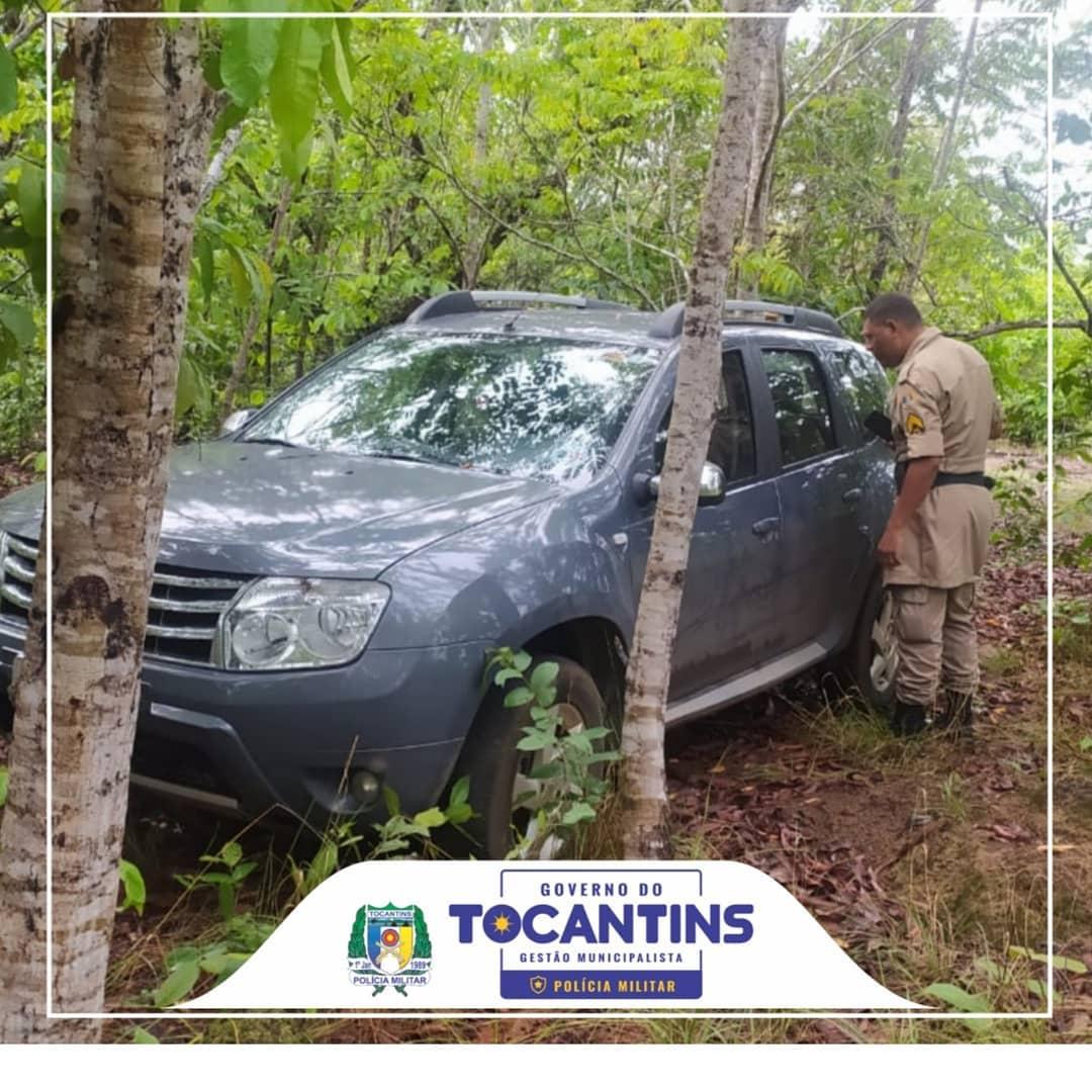 Polícia Militar  localiza na zona rural  de Porto Nacional veículo com restrição de furto/roubo
