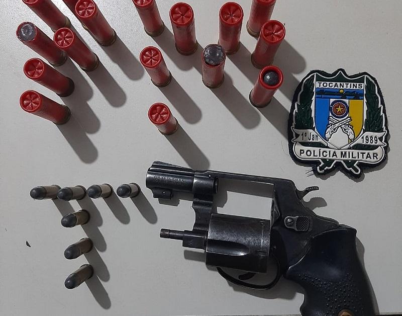 Polícia Militar prende homem por porte ilegal de arma de fogo em Campos Lindos