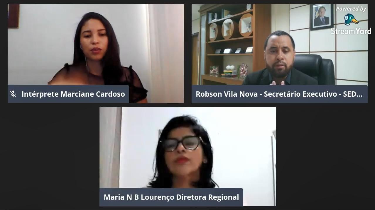 Seminário da Regional de Araguatins debate os desafios da gestão escolar em tempo de pandemia