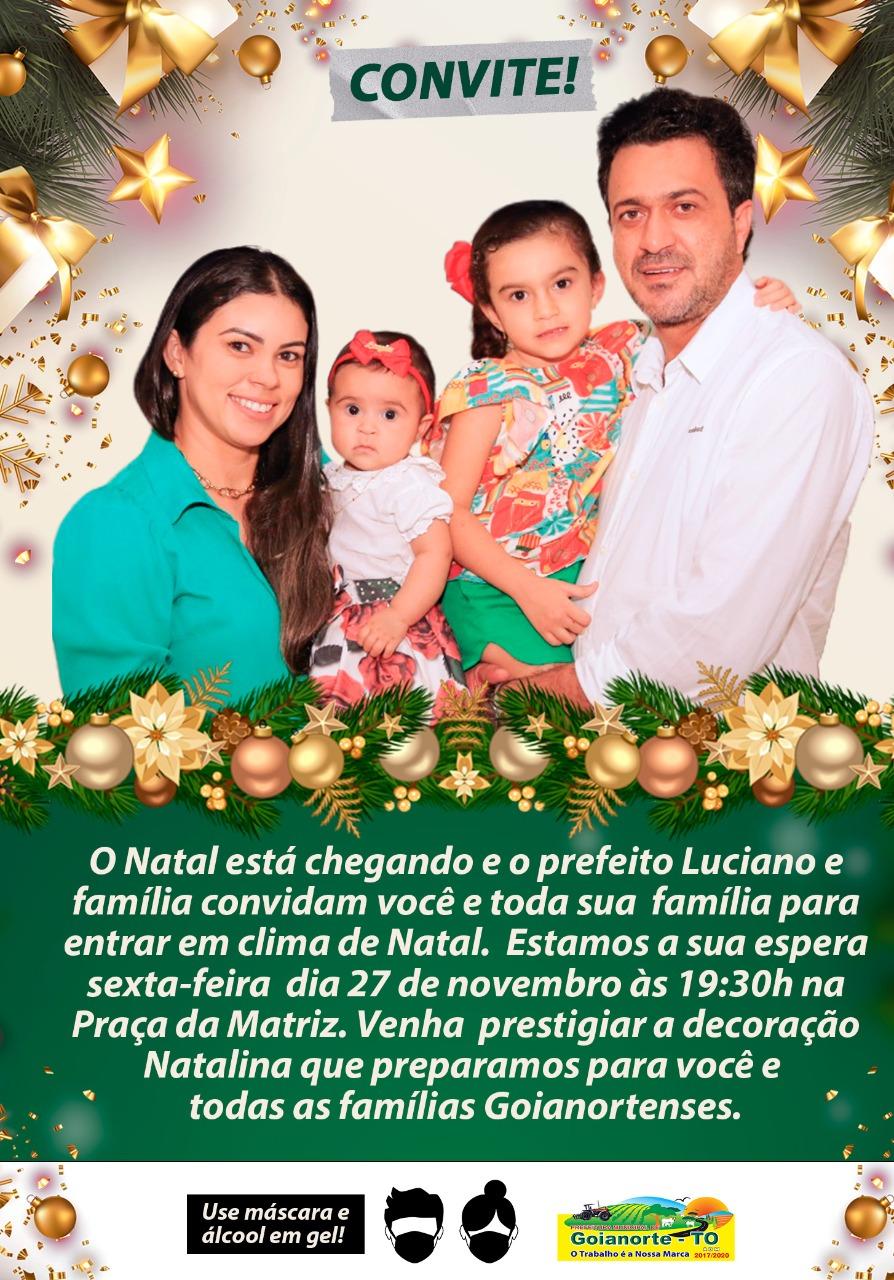 Prefeitura de Goianorte inaugurará iluminação natalina nesta sexta, 27