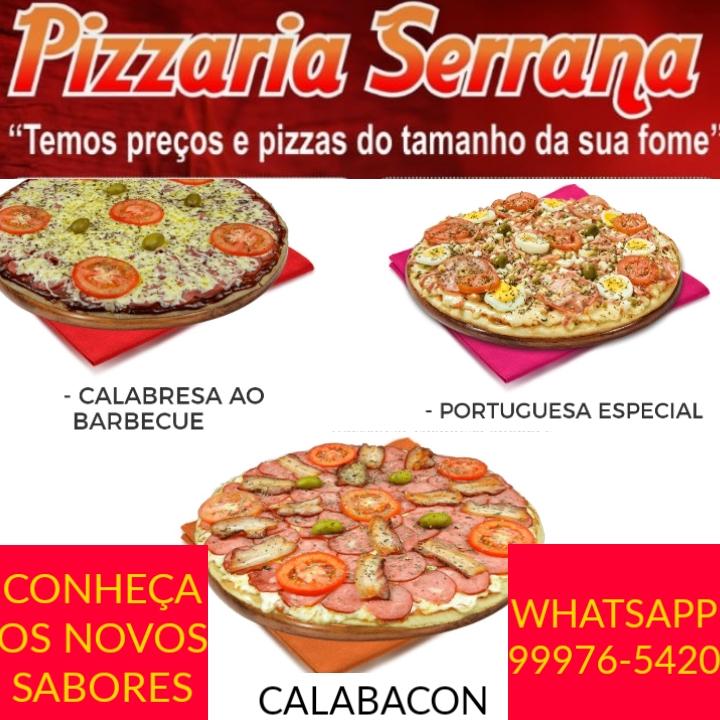 Pizzaria Serrana anuncia ofertas e novos sabores de pizzas, em Paraíso