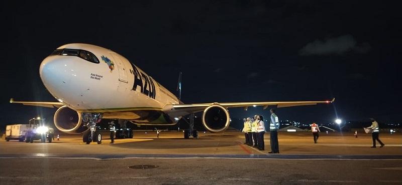Avião que iria buscar vacinas na Índia chega a Campinas para levar oxigênio a Manaus