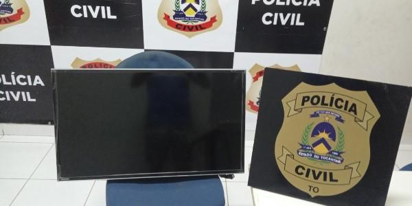 Polícia Civil recupera TV furtada e identifica adolescentes como autores do ato infracional em Pedro Afonso