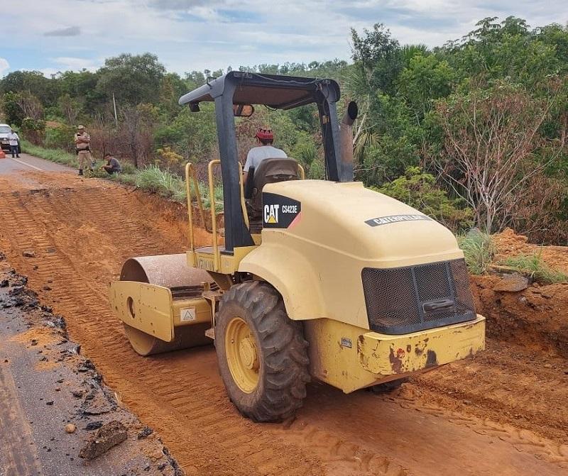 Governo do Tocantins concluirá reparos de rodovia entre Miracema e Lajeado