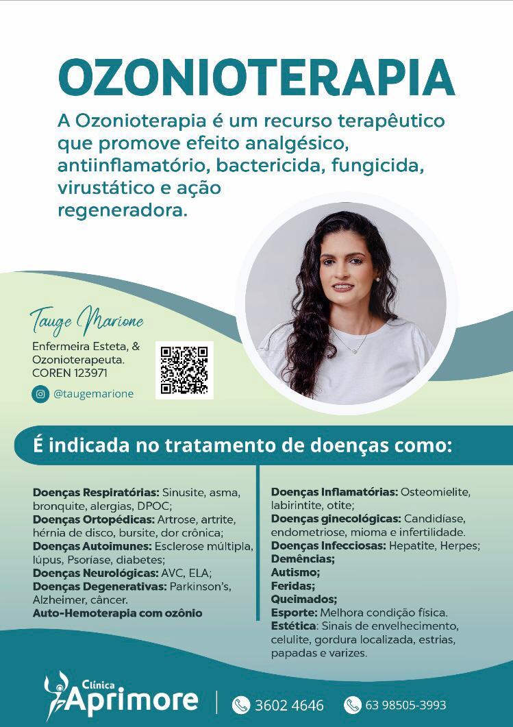 Clínica Aprimore apresenta benefícios da ozonioterapia em Paraíso TO