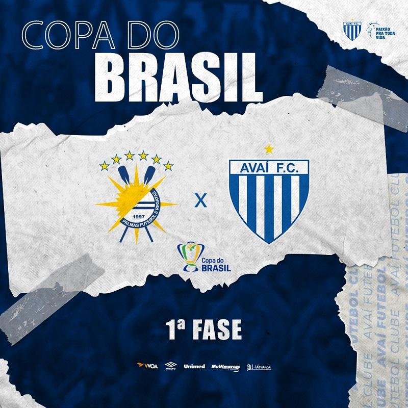 Palmas e Avaí (SC) se enfrentam na primeira fase da Copa do Brasil