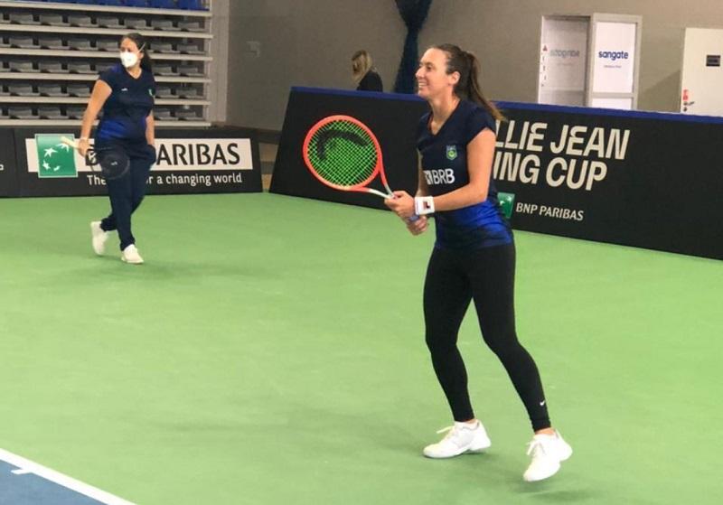 Luisa Stefani está confiante para a Billie Jean King Cup contra a Polônia