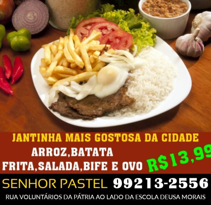 Senhor Pastel oferece jantinha por R$ 13,99 em Paraíso