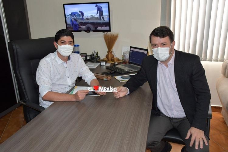 Celso Morais se reúne com presidente da Unirg em Paraíso e anuncia data do próximo vestibular