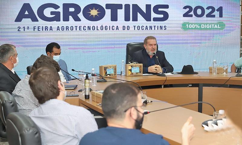 Governador Carlesse reforça investimento em tecnologia para o agro ao lançar Agrotins 2021 100% Digital