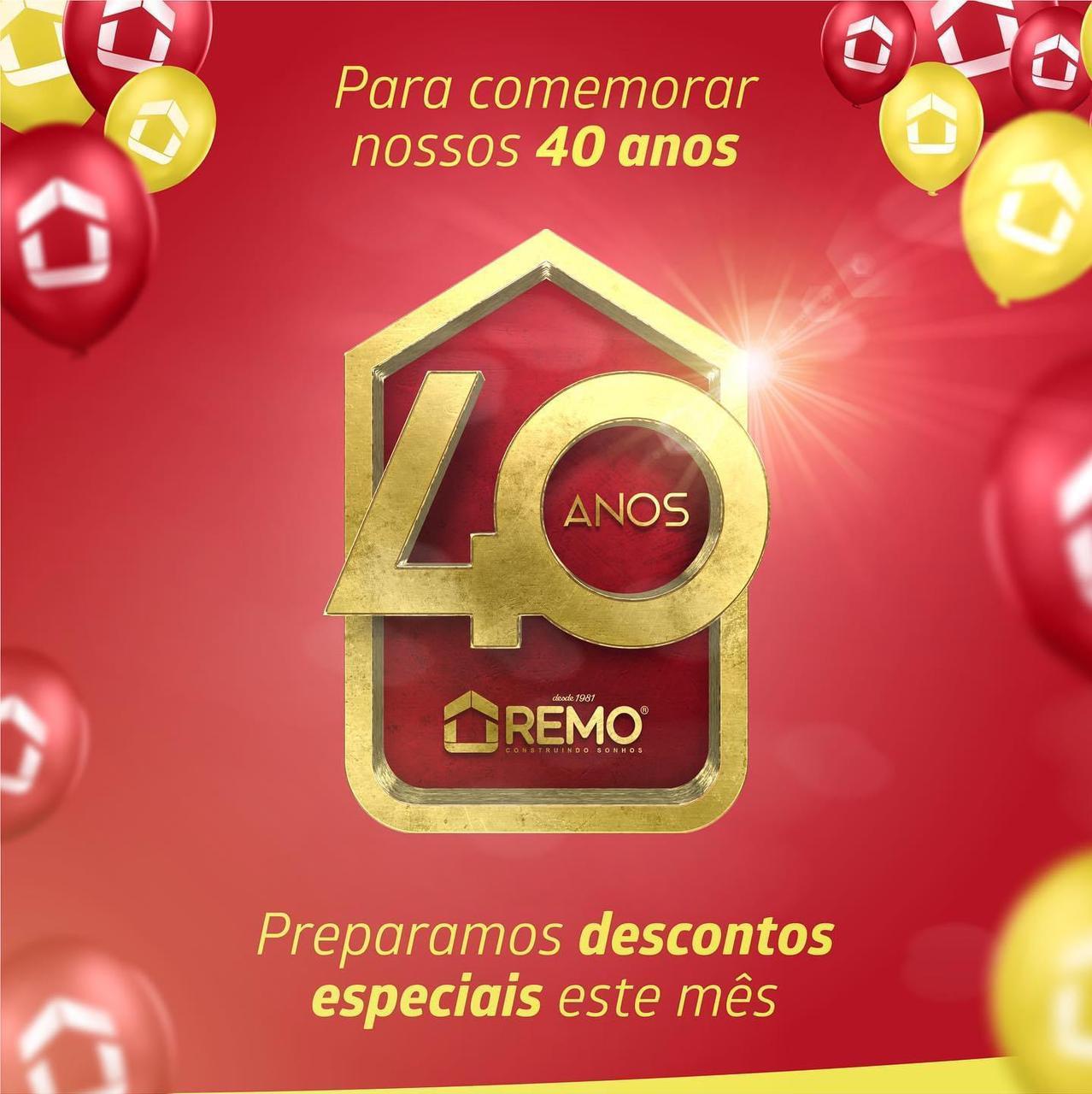 Grupo Remo anuncia promoções no mês do 40º aniversário em Paraíso