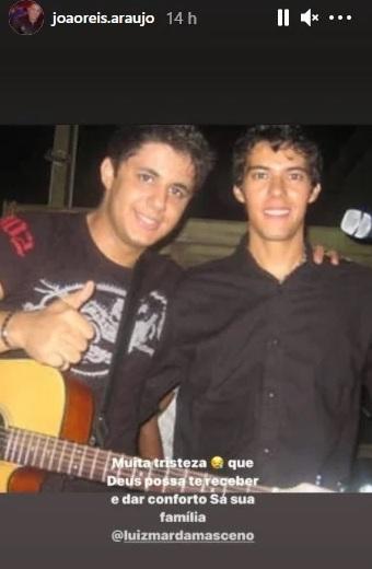 Pai de Cristiano Araújo lamenta morte de Luizmar Damasceno, ex-dupla do filho