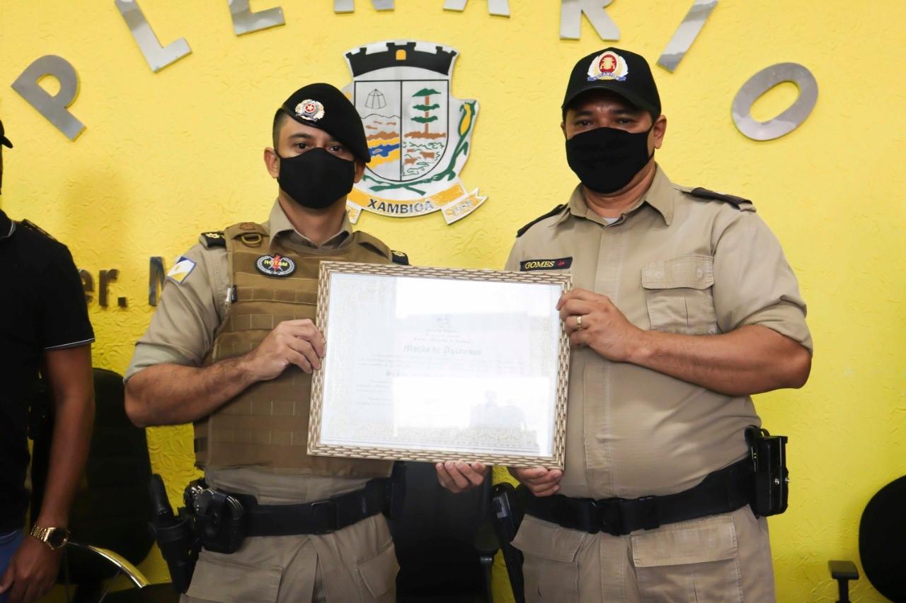 Policial Militar recebe Moção de aplausos e congratulações na Câmara de Vereadores de Xambioá-TO