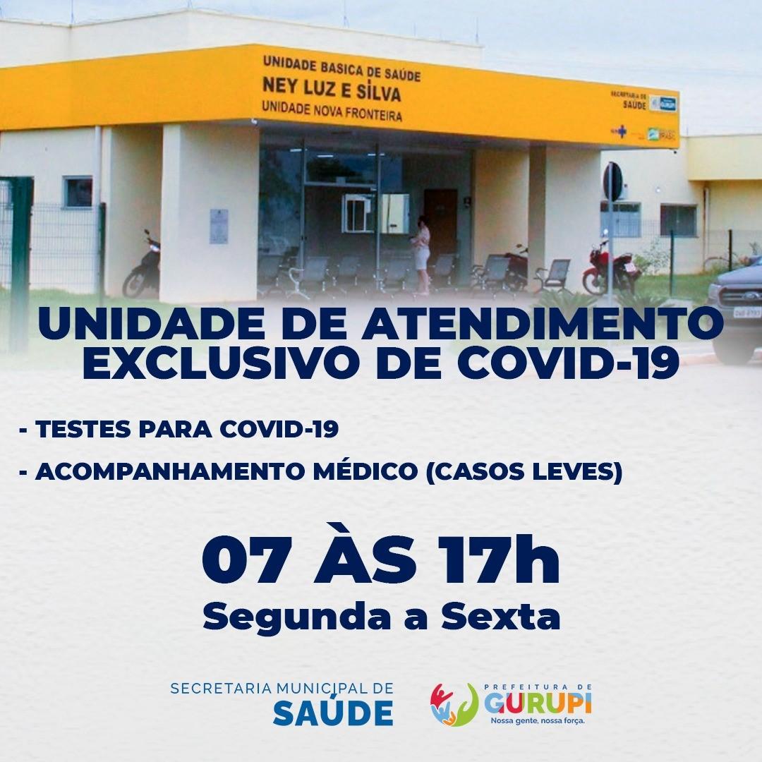 UBS Nova Fronteira, em Gurupi, passa a ser de atendimento exclusivo à Covid-19