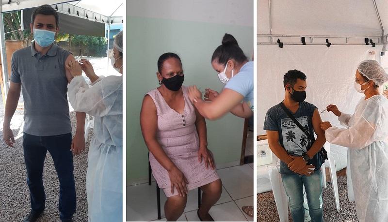 Profissionais do Campus Paraíso do IFTO recebem 1ª dose da vacina contra a covid-19