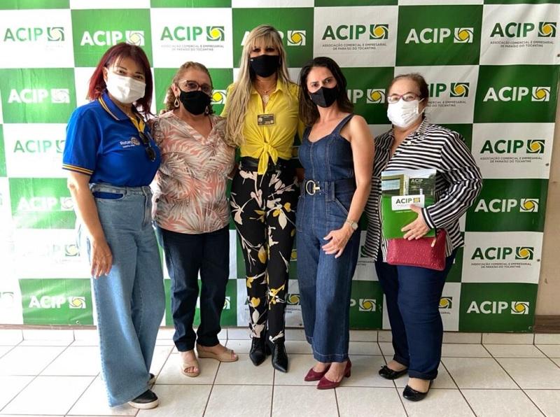 Acip recebe visita da Governadora do Rotary Distrito 4530